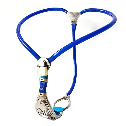 LIULIU Cintura di castità Invisibile Femmina Strapon Panty Giochi per Adulti Cosplay Bondage in Metallo Slave Sex Toys for Woman,Blue,90~110cm
