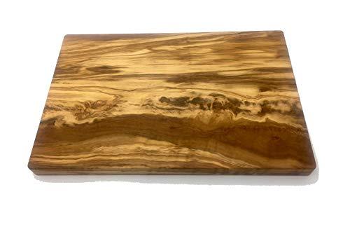 bagusto Schneidebrett aus Olivenholz handgefertigt auf Mallorca Brett aus Holz Schneidbrett Küchenbrett Fleischbrett Tranchierbrett Servierbrett Verschiedene Größen (30x20x2 cm)