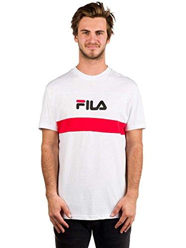 Herren T-Shirt Fila Aaron T-Shirt Bright White
