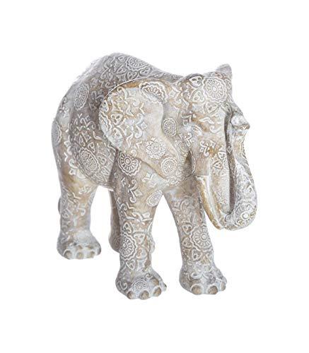 Atmosphera - Éléphant Blanc en résine H 15 cm