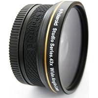 Polaroid Studio Series 43X High Definition Wide-Angle Lens Objectif large Noir - lentilles et filtres d'appareil photo (Objectif large, Noir, 5,2 cm, Boîte)