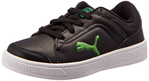 1ce14cf7bb59 Puma Unisex Skool Jr Ind. Black and Poison Green Sneakers - .