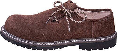 Almwerk Herren Trachtenschuh aus echtem Leder , Schuhgröße:EU 42 - US 9 - Fußlänge 26.7 cm;Farbe:Braun