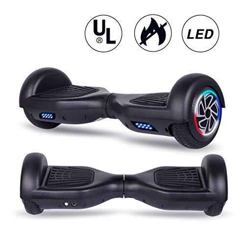 """Jogele 6.5\"""" Hoverboard, Kinder Sicherheitsmodus & Starker Dual Motor 2 * 304W LED Elektro Skateboard Self Balance Scooter, Kinder"""