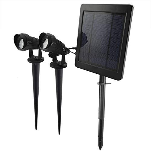 Este producto funciona convirtiendo la luz solar en energía eléctrica y almacenándola en una batería interna para alimentar dos luces de césped LED.   Especificación: Condición: 100% nuevo Tipo de artículo: Luces de punto de energía solar Material: P...