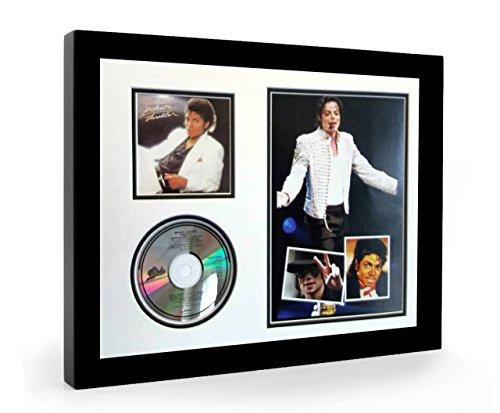 Michael Jackson Thriller CD & Photo Album Art Framed Display (S) (Framed Jackson Photo)