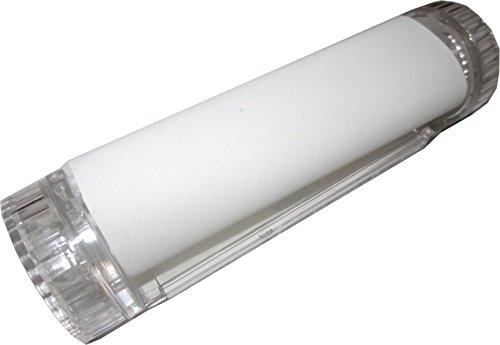 4-in-1 Zigaretten Drehmaschine / Jointroller mit Grinder, Tabakdose und Blättchenhalter inkl. Hanfblatt-Anhänger (transparent)