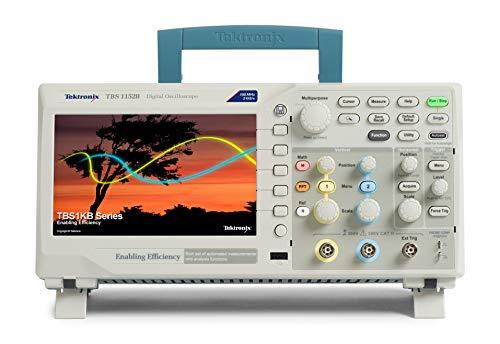 Tektronix TBS1152B - Osciloscopio digital de almacenamiento, 150 MHz, ancho de banda, 2 GS/s, 2 canales, longitud de grabación de 2,5 K
