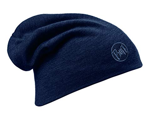 Buff Solid Denim Gorro Lana Merino Heavyweight, Unisex Adulto, Denim, Talla única