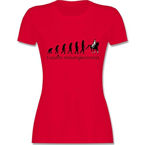 Evolution - Vielseitigkeitsreiten Evolution - tailliertes Premium T-Shirt mit Rundhalsausschnitt für Damen Rot