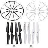Hometalks®syma X5sw X5c X5sc X5c-1 X5 Quadcopter 8pcs láminas principales Propulsores / 2pcs X5sw Protección Marco de repuestos para (negro / blanco)