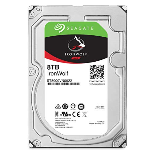 Seagate ST8000VNZ022 IronWolf Interne Festplatte (3, 5 Zoll/ 8, 9 cm, 8 TB, für 1 - 8 Bay) silberfarben (Seagate Personal Cloud)