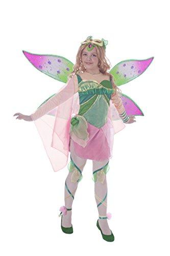 Kostüm Kinder Club - Ciao 11190Flora Bloomix Costume Winx Club Kostüm 7-9 anni Flora (Verde, Rosa)