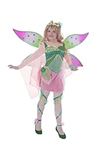 Ciao 11190 -Disfraz para niñas Flora Bloomix Winx Club 7-9 anni Flora (Verde, Rosa)