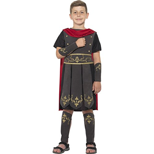Amakando Gladiator Kostüm Kind - M, 7 - 9 Jahre, 130 - 143 cm - Verkleidung römischer Soldat Spartaner Faschingskostüm Jungen Karnevalskostüm Legionär Soldatenkostüm Antike Kinderkostüm Römer (Kind Kostüm Gladiator)