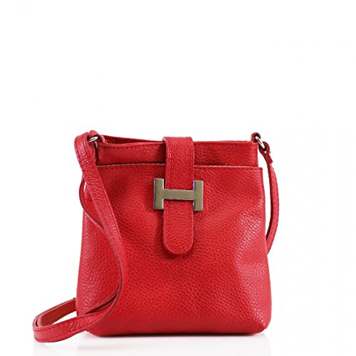 Amethyst Retail - Borsa a tracolla donna Red