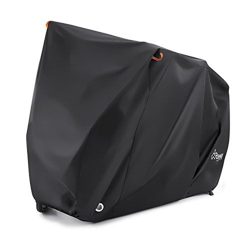 Bike Cover for 2 Bikes, Beeway® 190T Nylon Waterproof Bicycle Cover Anti Dust Rain UV Protection for Mountain Bike / Road Bike with Lock-holes Storage Bag