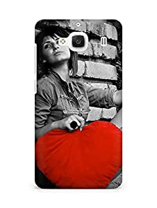 Amez designer printed 3d premium high quality back case cover for Xiaomi Redmi 2 (Love Is Big)
