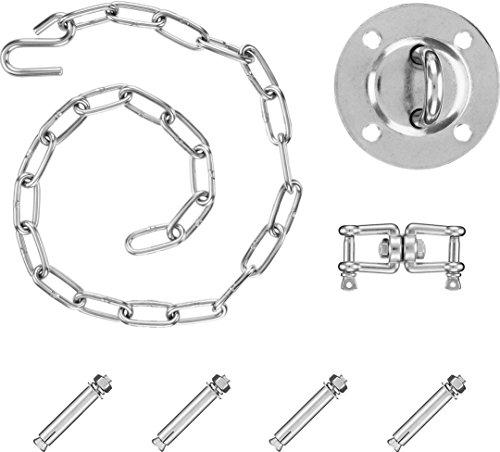 Purovi® kit di montaggio completo per poltrone sospese e amache | inclusa maniglia girevole | capacità di carico fino 300 kg