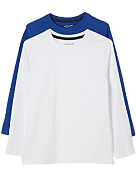 VERTBAUDET Lote de 2 Camisetas Niño de Manga Larga