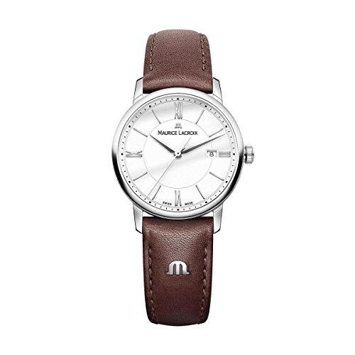 Maurice Lacroix Damen Analog Quarz Uhr mit Leder Armband EL1094-SS001-110-1