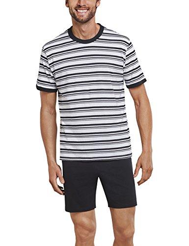 Schiesser Herren Schlafanzughose Anzug Kurz, Weiß (Off-White 102), XXX-Large (Herstellergröße 058)