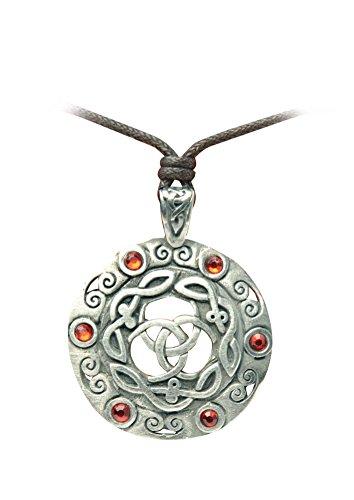 Zoelibat 97207241.112-Gothic Punk ciondolo, celtico amuleto, pietra 4x 4cm, colore: rosso