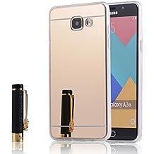 "MOONCASE Galaxy A3 2016 Coque, Slim Etui Avec Effet Miroir Soft TPU Silicone Protection Housse pour Samsung Galaxy A310 / Galaxy A3 2016 (4.7"") (Or)"