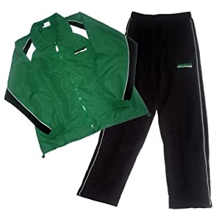 all4you-sportswear Tracksuit Microfibre–Green/Black, Small