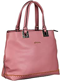 Abrazo Fashionable Pink Color Hand Bag For Women's In Good PU Material