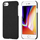 iPhone 8 / iPhone 7 Case, PITAKA Magcase Aramid Fiber [Bullet Proof Materiale] Cover Ultra Sottile (0.65mm) Super Leggero(12g) Custodia - Nero/Grigio(Spigato)