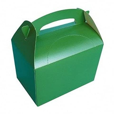 Set of 10 Green Party Food Boxes