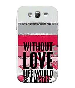 PrintVisa Designer Back Case Cover for Samsung Galaxy Grand I9082 :: Samsung Galaxy Grand Z I9082Z :: Samsung Galaxy Grand Duos I9080 I9082 (two in one design quote on beautiful pattern)