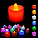 Shree Technesh Diwali Home Décor LED Tea Light Candles, Pack Of 12 Pcs (Multi)