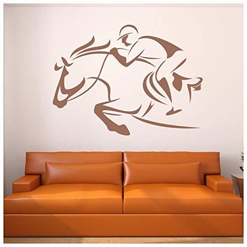 azutura Caballo de carreras Vinilos Racing Jockey Pegatina Decorativos Pared Apuestas Deportivas Decoración del hogar disponible en 5 tamaños y 25 colores Grande Borgoña