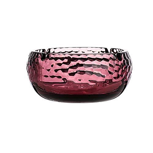 HUACANG Durchscheinendes Glas Aschenbecher Feine Textur Haushalt Schlafzimmer Büro Kreative Persönlichkeit Desktop-Dekoration (Farbe : Rot) -