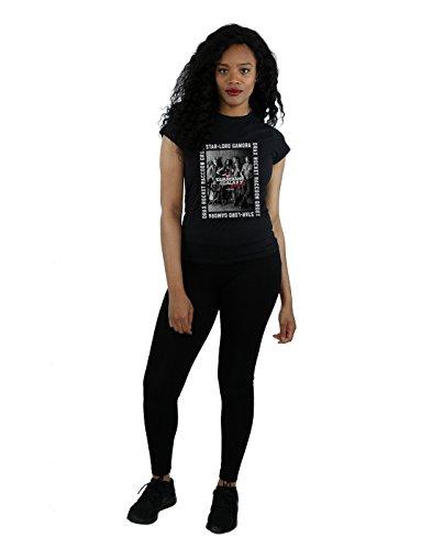 Marvel - T-shirt - Aucun motif - Manches Courtes - Femme Noir