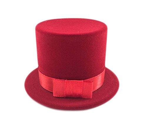 Set von 3 Netter Ring-Box Geschenk-Display-Box Schmuck-Box, roter Hut -