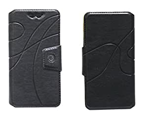 J Cover Oscar Series Leather Pouch Flip Case With Silicon Holder For Motorola Droid RAZR Black