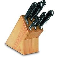 Boj 01820405 Olaneta - Bloque de madera con 6 cuchillos, acero inoxidable, color marrón