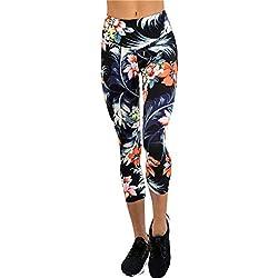 Pantalones Yoga Mujeres, ❤️Xinantime Polainas de yoga impresas deportes de las mujeres Entrenamiento Gym Fitness ejercicio atlético Pantalones (XL, ❤️Azúl)