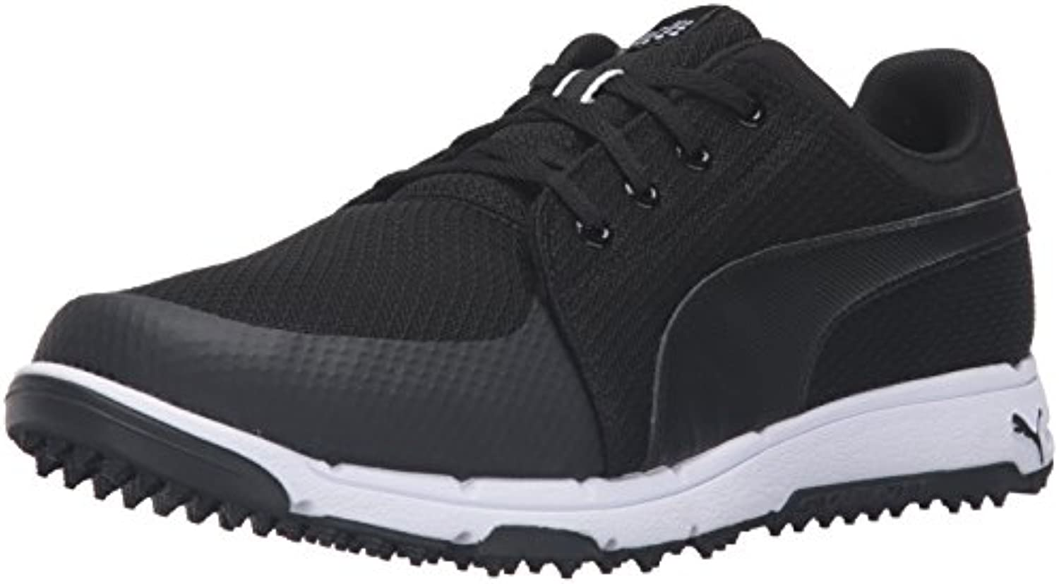 PUMA Men's Grip Sport Golf Shoe  Black/White  9.5 Medium