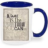 """'""""A Smile Taza de café con diseño, impresa Taza con frases o imágenes–También personalizarla Después de elección del Cliente"""