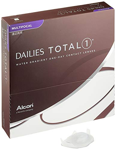 Alcon Dailies Total 1 Multifocal Tageslinsen weich, 90 Stück / BC 8.6 mm / DIA 14.1 mm / ADD MED / -2.25 Dioptrien