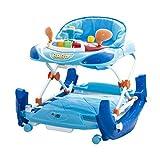 Girello a norma Walker Cars Rocker con dondolo e piatto giochi pratico e leggero colorato (blu)