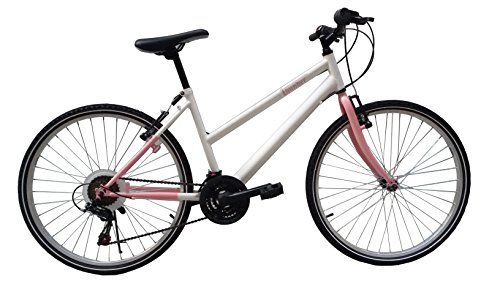 """F.lli Schiano Mountain Bike Thunder Evo Bicicletta Donna Bianco/Rosa opaco, 26"""""""