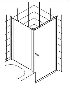 Van well aTRIUM en verre pour cabine de douche avec entrée b :  85 cm à 105–derselbe prix!
