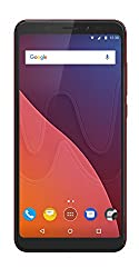 Wiko View Smartphone (14,5 cm (5,7 Zoll) Display, 16 GB interner Speicher, Android 7 Nougat) cherry red