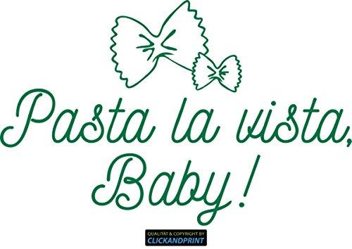 CLICKANDPRINT Aufkleber » Pasta la vista, Baby!, 30x19,3cm, Grün Reflektierend • Dekoaufkleber / Autoaufkleber / Sticker / Decal / Vinyl