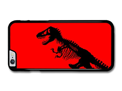 Jurassic Park Black T-Rex Dinosaur on Red Bakground hülle für iPhone 6 Plus 6S Plus